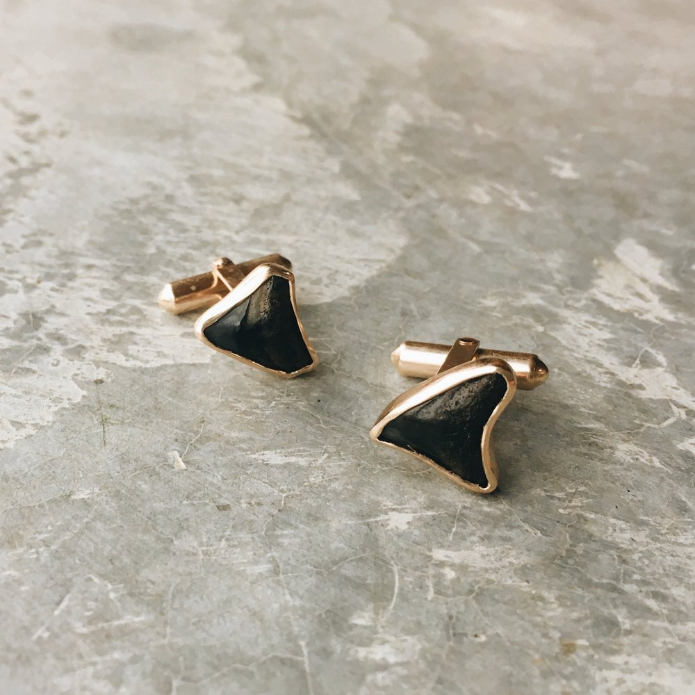 Mary MacGill Gold Shark Tooth Cufflinks