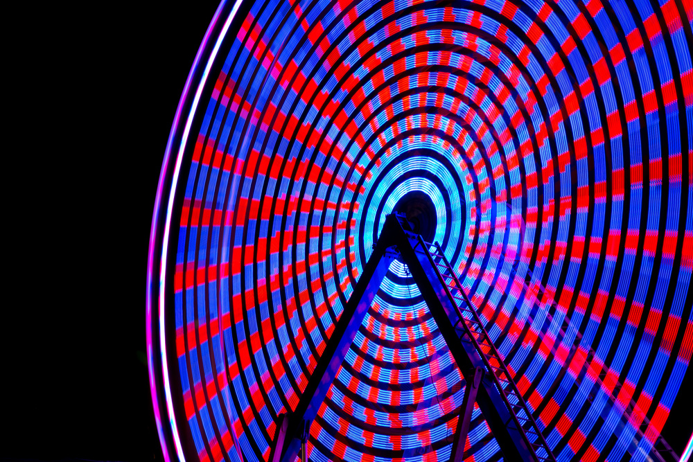 Nighttime Ferris Wheel