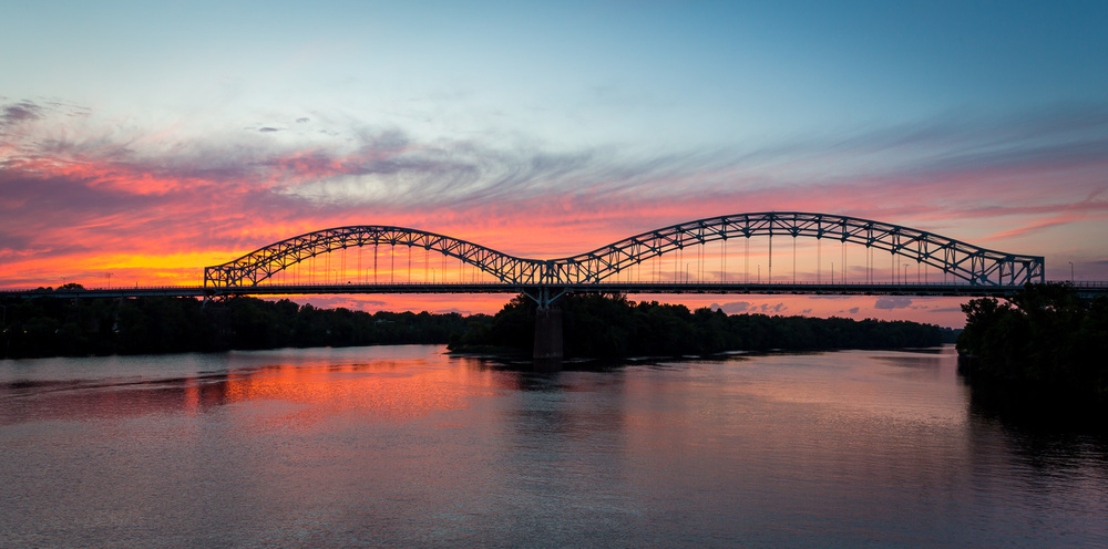 Arrigoni Bridge Sunset - CT River