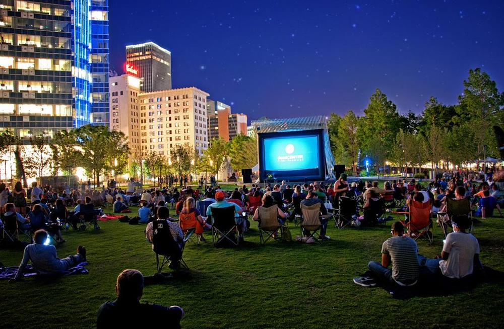 Myriad Botanical Gardens hosts public events including outdoor movies, concerts and plays (DeadCenterFilms)