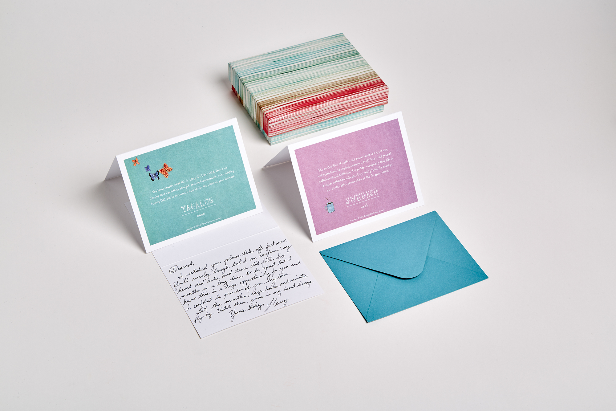 from new york times bestselling author ella frances sanders comes this collection of note cards featuring - Note Cards
