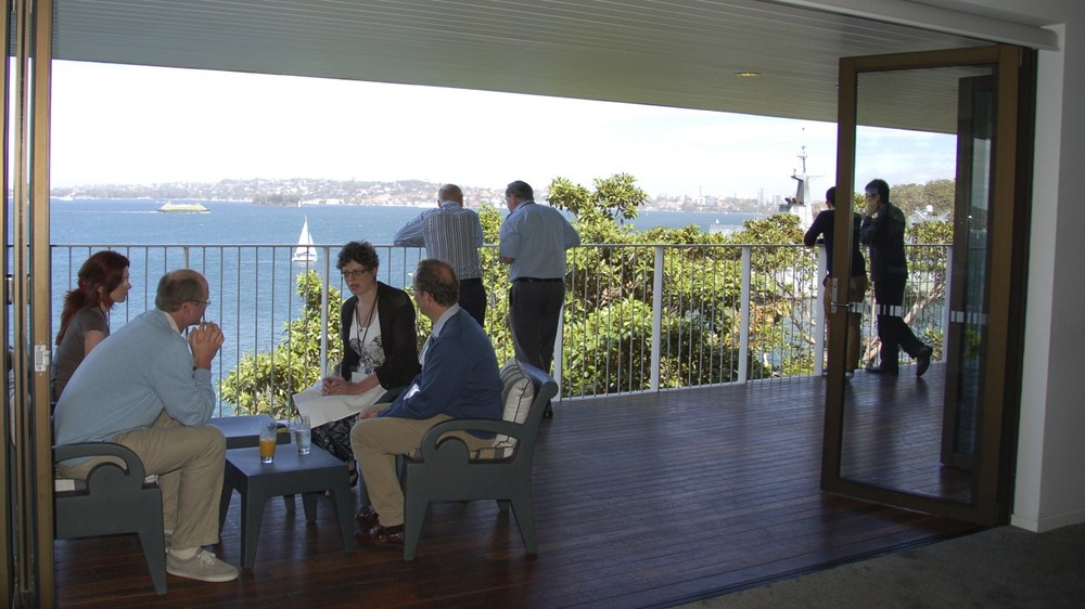 Morning tea at Sergeant's Mess provides expansive views of Sydney Harbor.