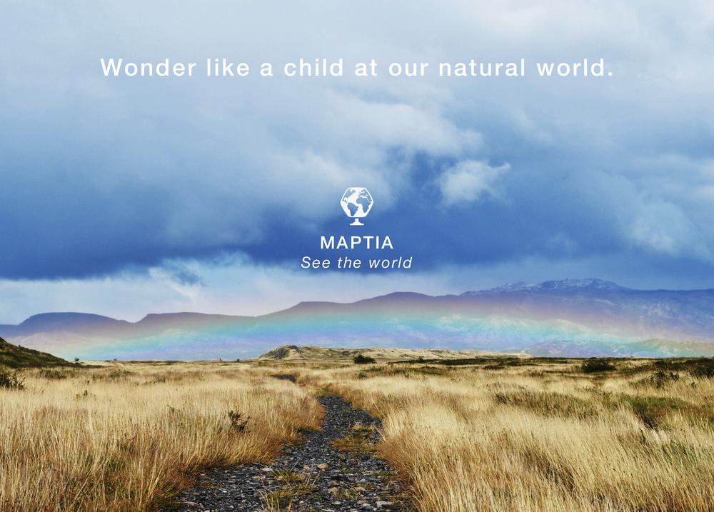 A hazy rainbow landscape for the maptia curious philosophies.