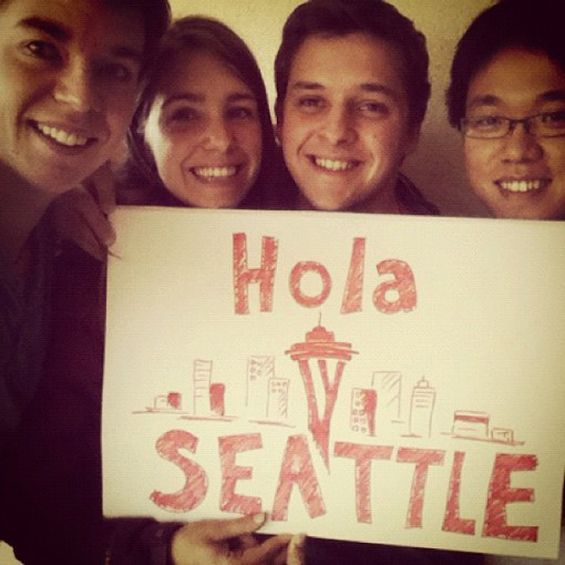 Instagram of Maptia team, Hola Seattle.