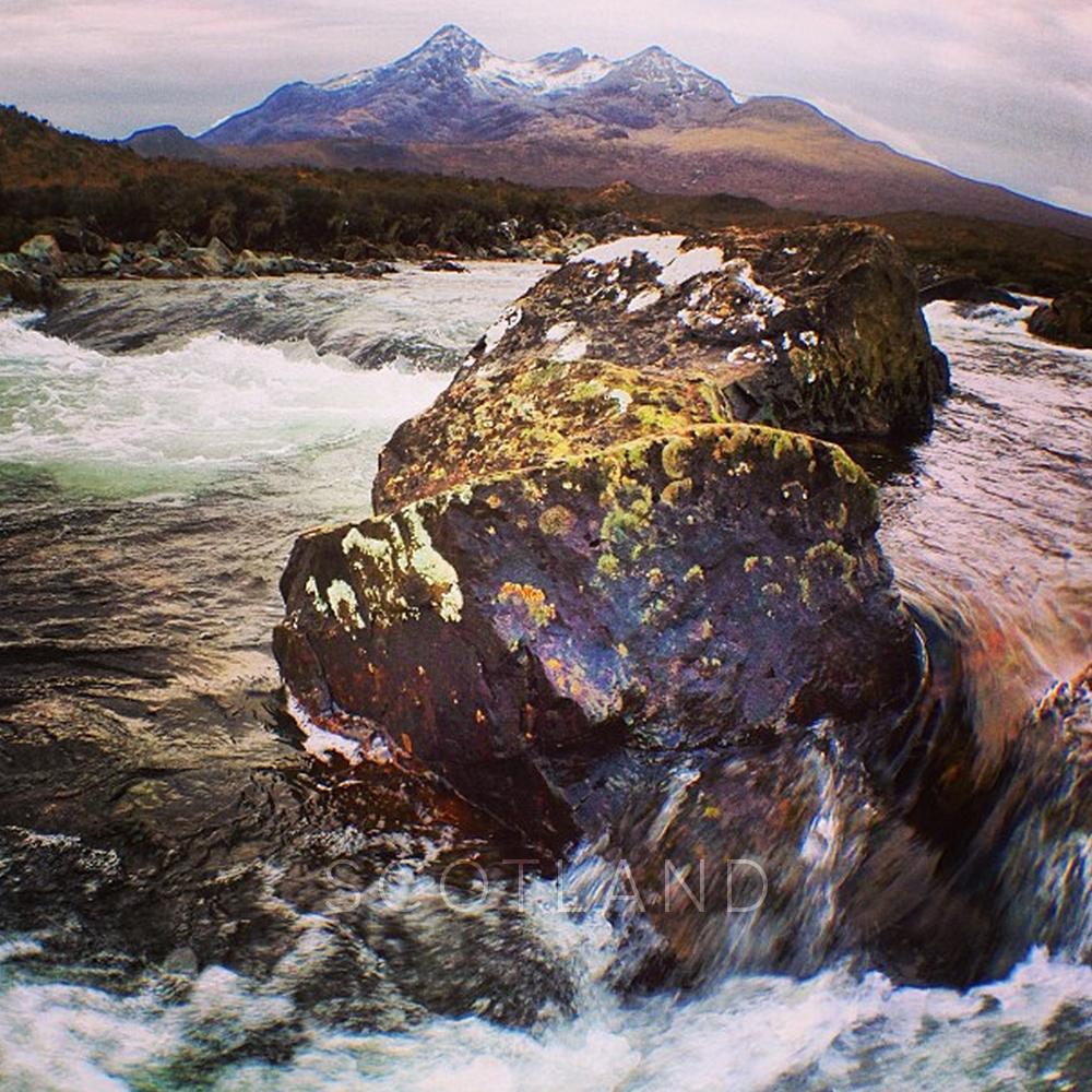 Kirsten Alana, Scotland Instagram water rocks mountains.