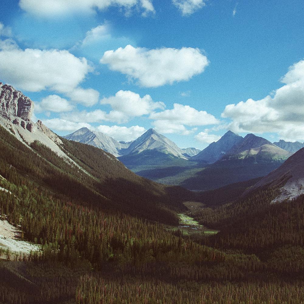 Julian Bialowas, Rocky Mountains, Canada. Cloud shadows.