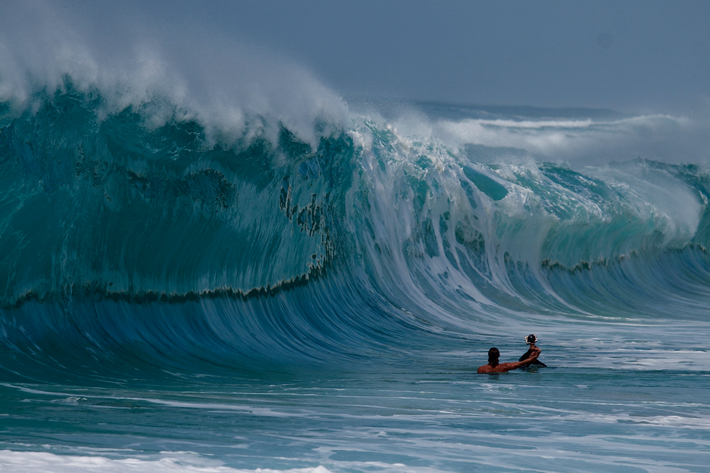 waimea bay wave hawaii clark little ode to the ocean