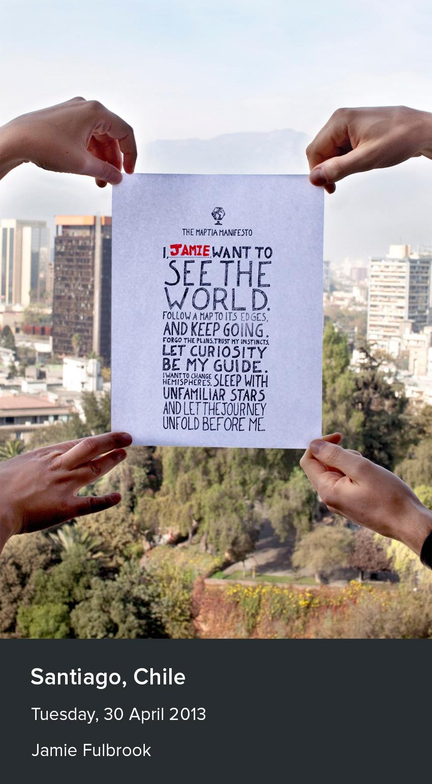 maptia manifesto chile