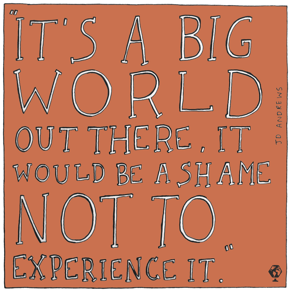 illustrated travel quotes jd andrews