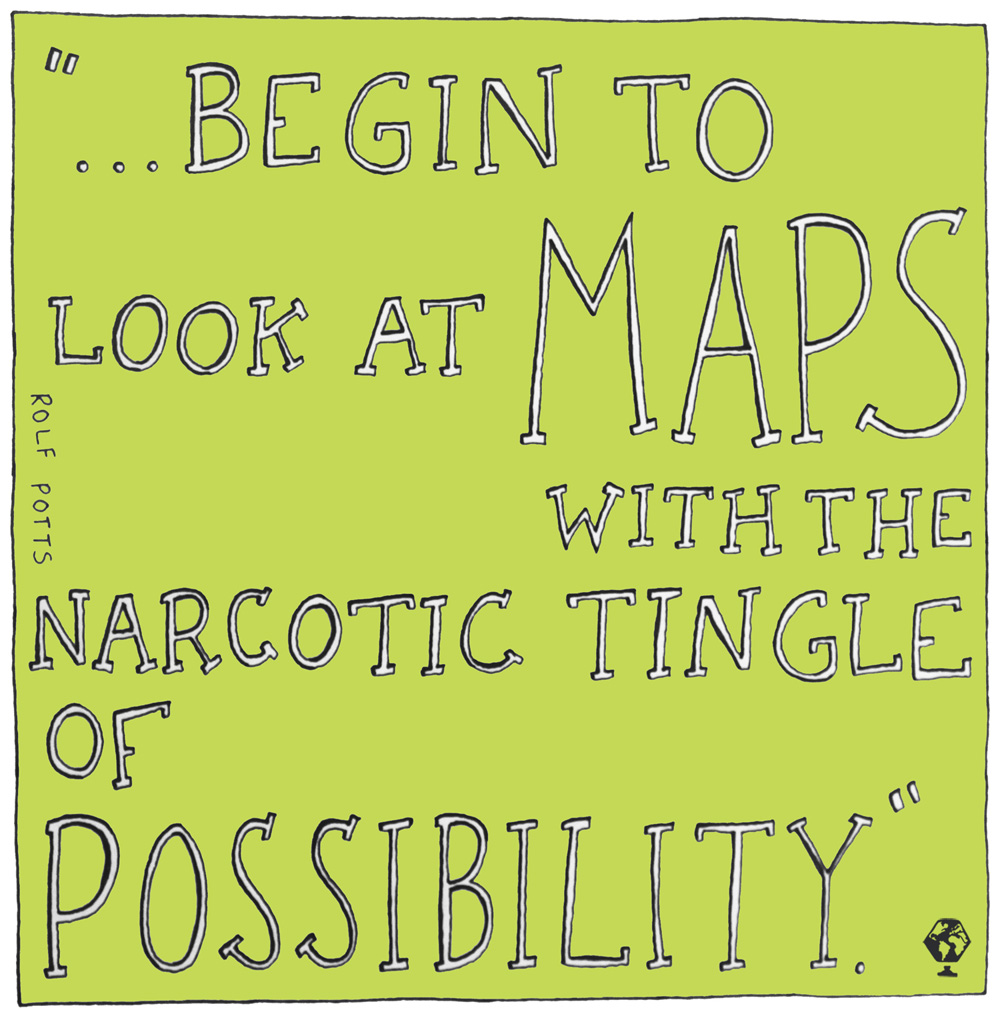 illustrated travel quotes rolf potts vagabonding