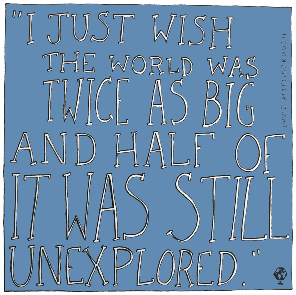 illustrated travel quotes david attenborough