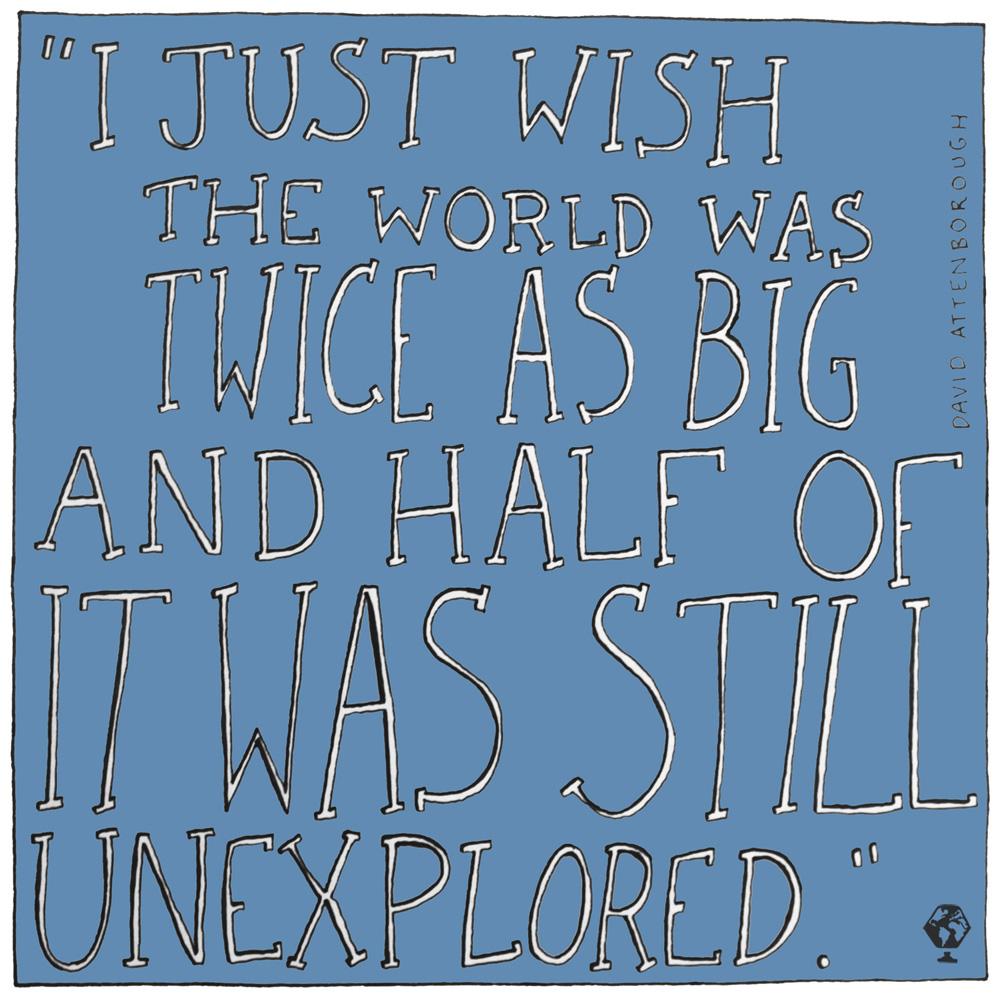 illustrated travel quotes david attenborough