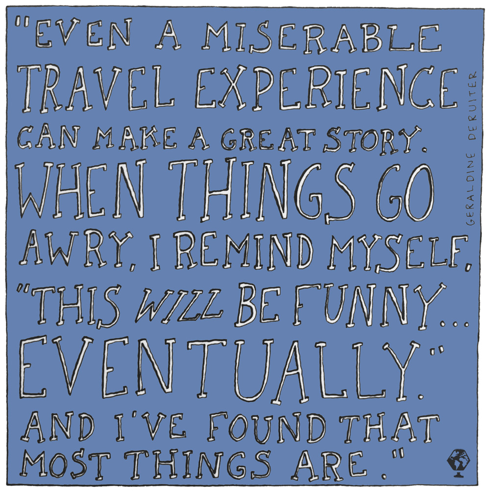 illustrated travel quotes geraldine deruiter everywhereist