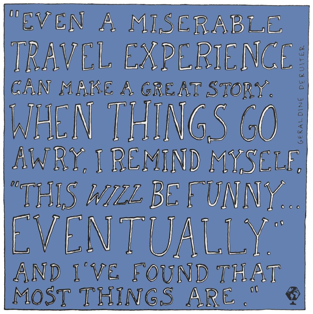 illustrated travel quotes geraldine deruiter everywhereist