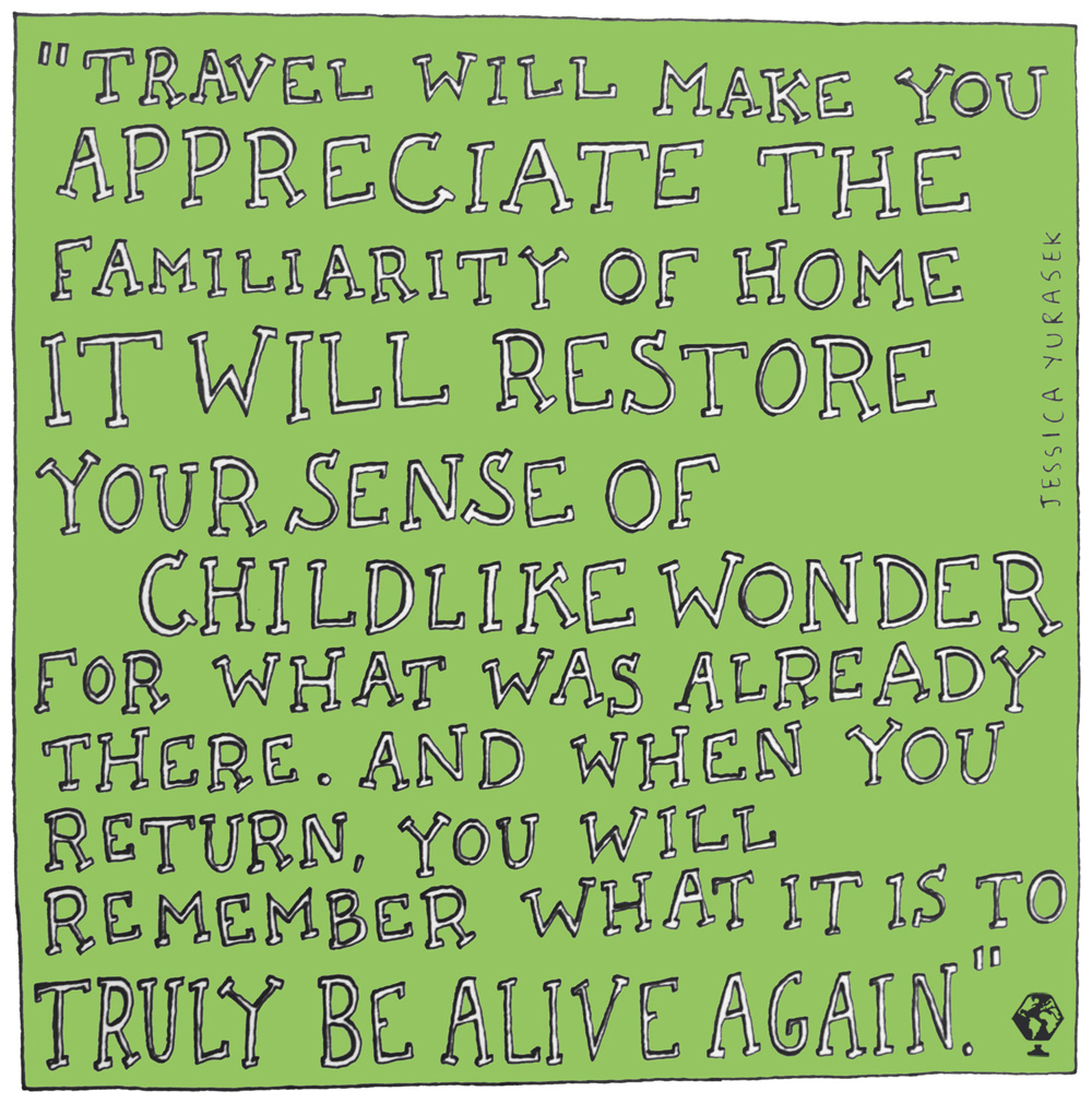 illustrated travel quotes jessica yurasek