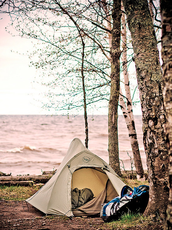 lake michigan one man and his tent photo essay