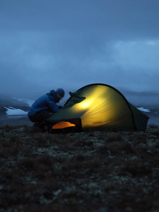 one man and his tent photo essay
