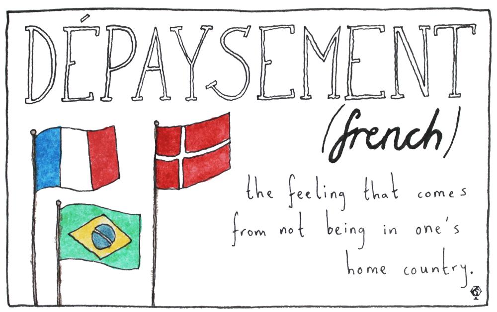 untranslatable words dépaysement