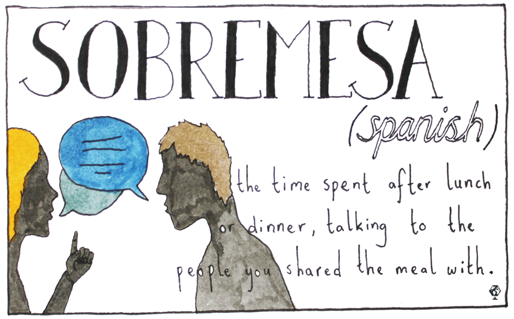 untranslatable words sobremesa
