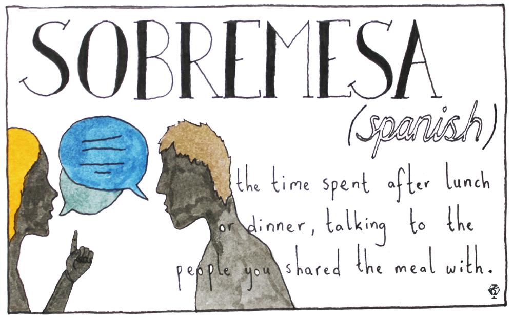 untranslatable words sobremesa