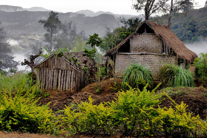 hill tribes papua new guinea unusual homes