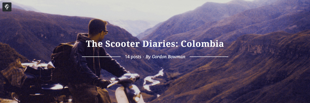 maptia, the scooter diaries, gordon bowman