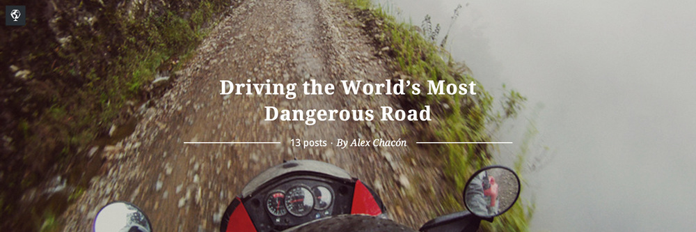 maptia, world's most dangerous road, alex chacón