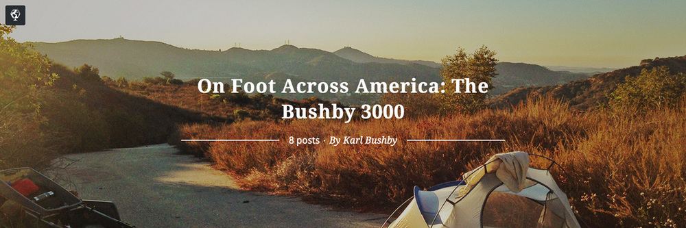 maptia, walking across america, the bushby 3000, karl bushby