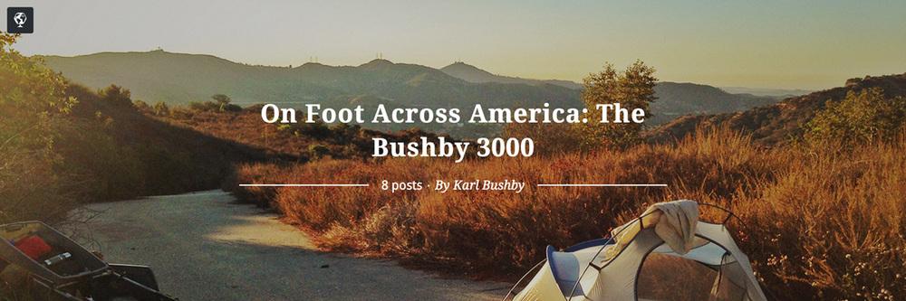 maptia, walking across america, the bushby 3000, karl bushby