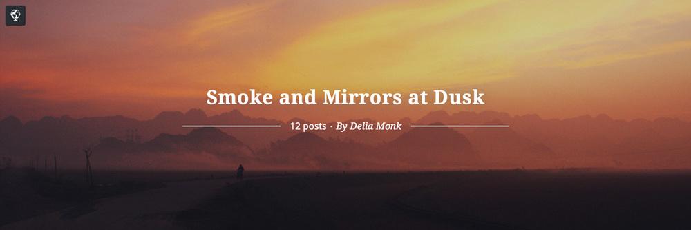 maptia, sunset ride, smoke and mirrors at dusk, delia monk