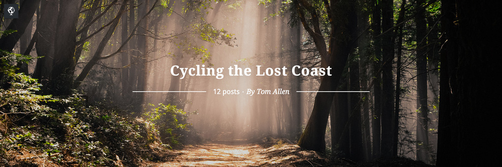 maptia, cycling the lost coast, tom allen