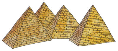 great pyramids of giza, maptia