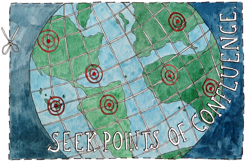 maptia, spontaneous explorer, points of confluence