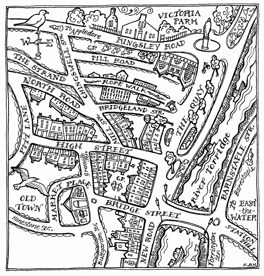 Map of Winchcombe in the UK by Katie Bridget Morgan