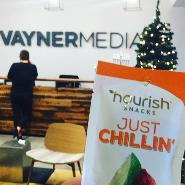 @vaynermedia talking shop, eating snacks.
