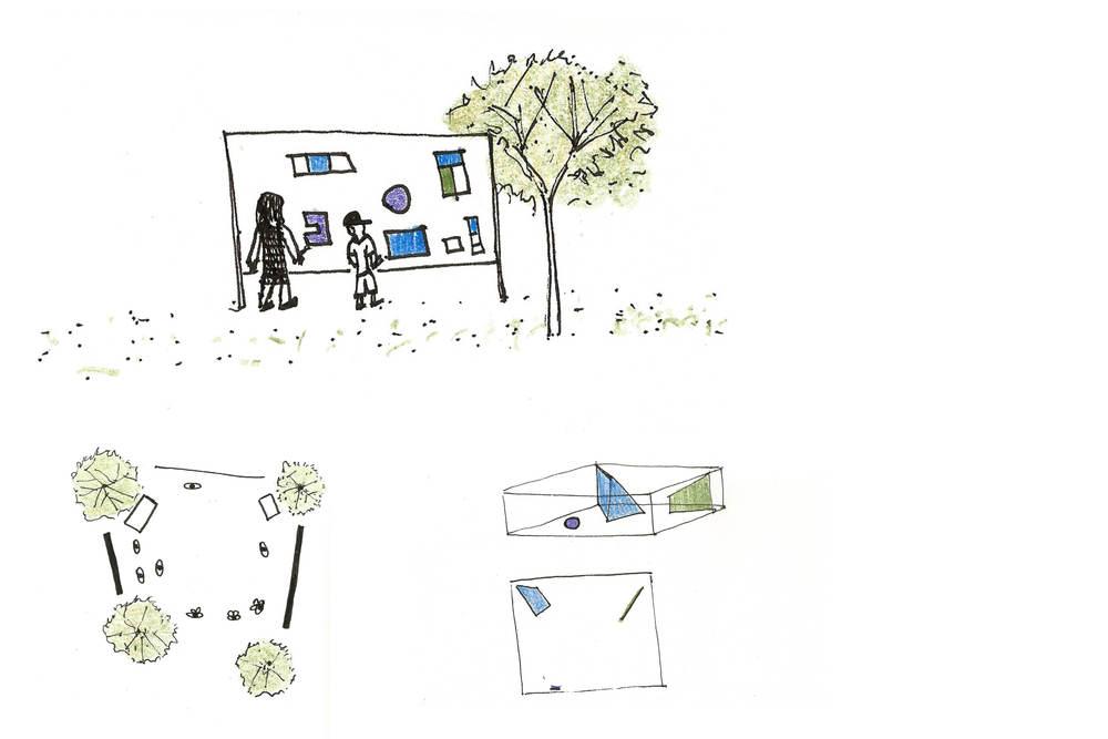 """Narrativas Arquitetônicas  2015,Museu da Casa Brasileira   L'Atelier réalisé au Musée de la maison brésilienne (Museu da Casa Brasileira) visait à examiner les langages de l'architecture et du design. A partir de la préparation d'un grand livre collectif, nous avons créé le récit d'un monde imaginaire, dans lequel on a introduit et mis en rapport les notions de lumière et d'ombre, de couleur et de texture, d'échelle et de construction.  --- oficina desenvolvida pelo estúdio vira com o objetivo de explorar as linguagens da arquitetura e do design. Através da construção de um grande livro coletivo, criamos a narrativa de um mundo imaginário, onde conceitos de luz e sombra, cores e texturas, e construção são investigados pelos participantes. ---  workshop activity where concepts of architecture and design are investigated by the participants in order to build a collective """"book"""" that describes an imaginary world."""