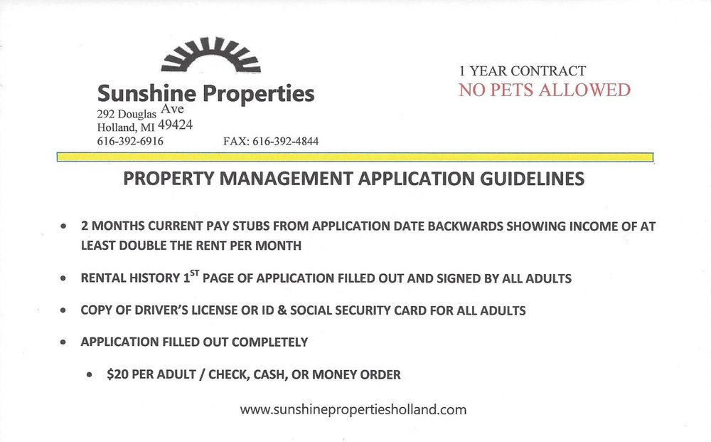 Required forms with application