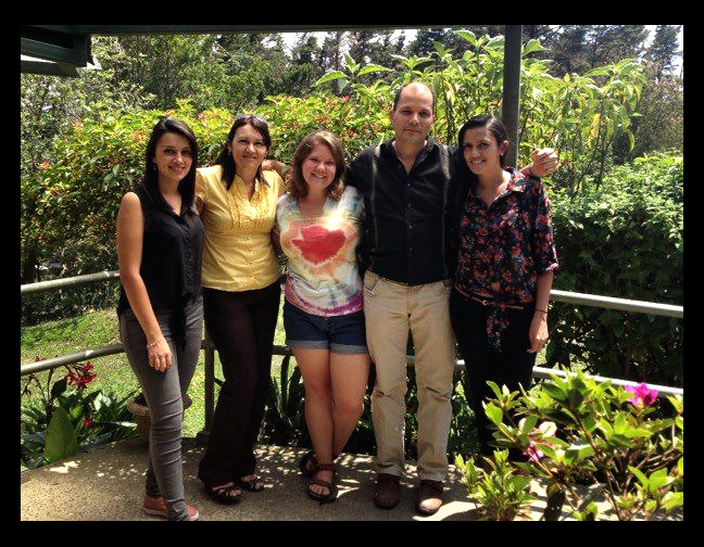 Emily Jefferies and her Homestay family.