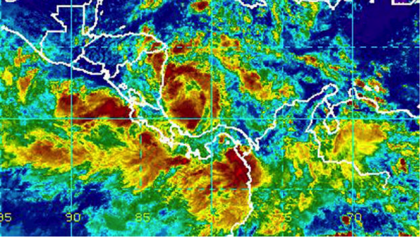 A tropical depression is seen off the Atlantic coast of Central America in an infrared satellite image captured at 1:15 p.m. ET on Oct. 4, 2017. NOAA ( https://www.cbsnews.com/news/tropical-storm-nate-depression-hurricane-us-gulf-coast/ )