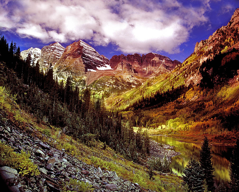 Maroon Bells Color Study 1
