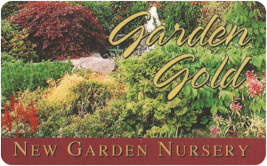 Garden Gold customer loyalty card