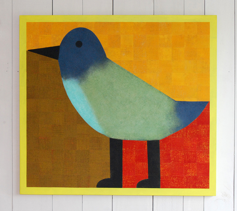 Barry Lett Small Bird Acylic paint, cotton on board
