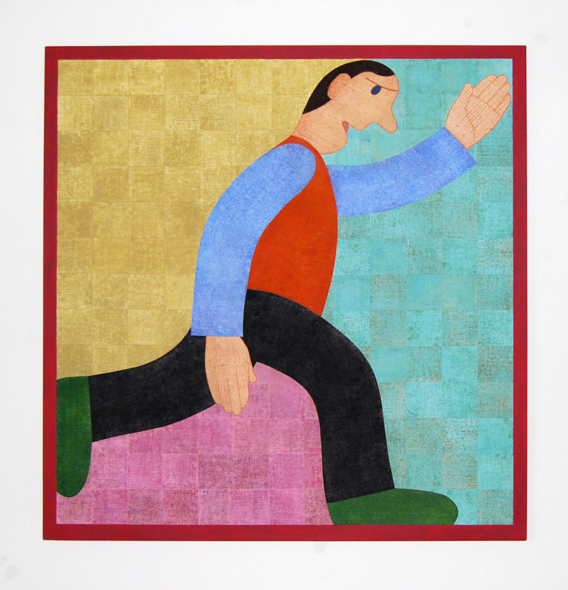 Barry Lett Running Man Acrylic paint, cotton on board 1250 x 1220 mm
