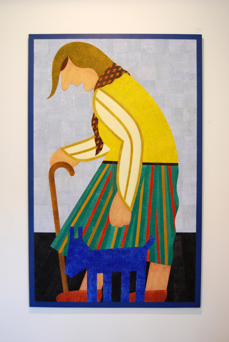 Barry Lett The Walking Stick Acrylic Paint, cotton on board 1800 x 1130