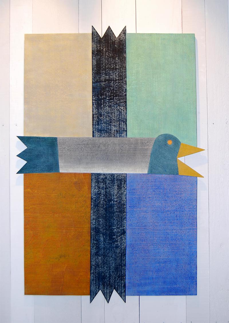 Barry Lett Heraldic Bird Acrylic on ply 1100 x 770