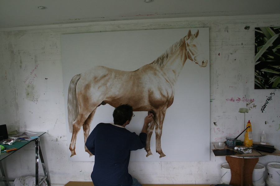Neal Palmer working in his studio - High Hopes