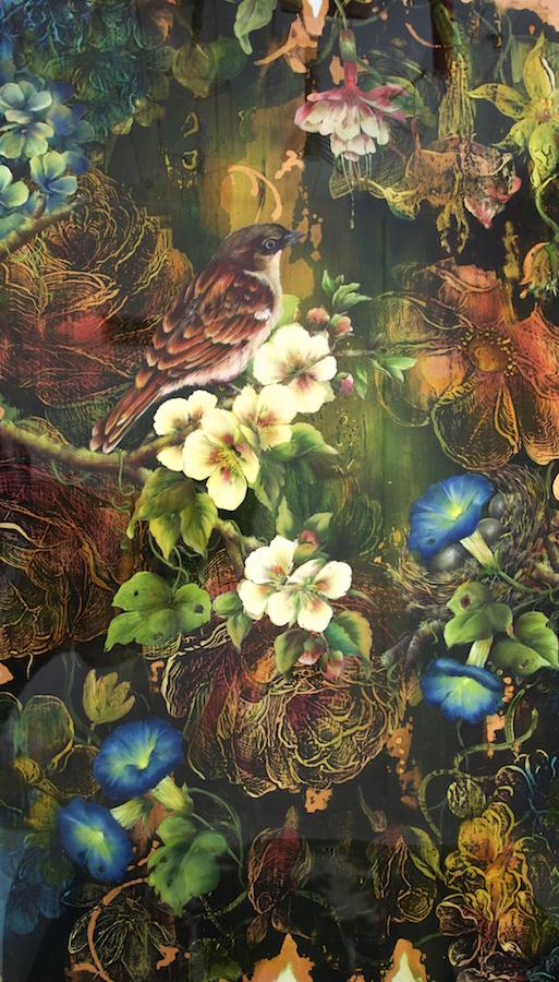 Janette Cervin - Sparrow & Fuschia - 2016
