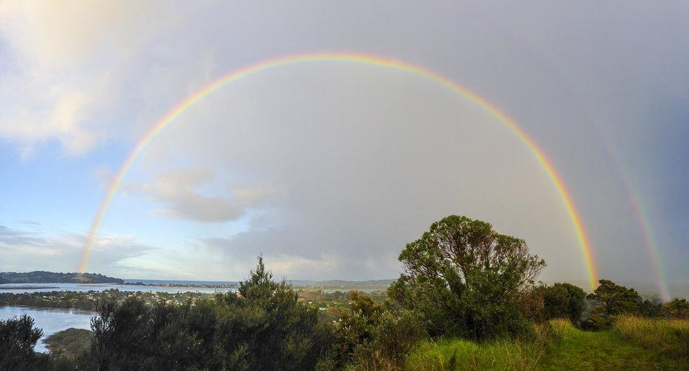 Rainbow #2, Whangateau - 2016