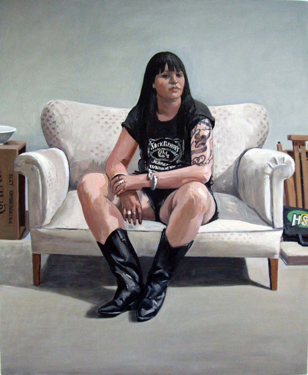 Portait of Claudia Watson know as 'Back to Black', 2008