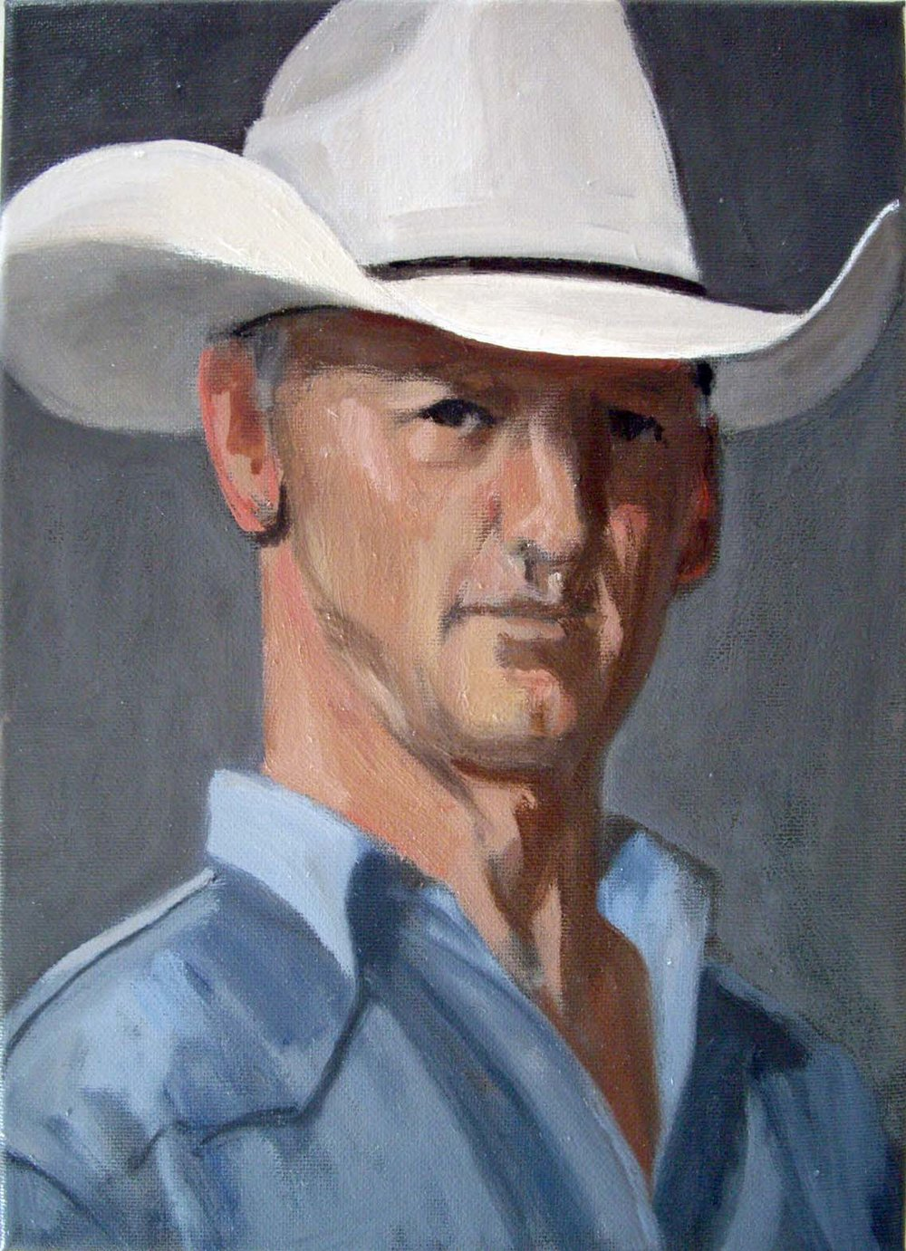 Lucky Little Cowboy, Oil on Canvas                                                                    Richard McWhannell
